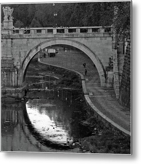 Rome Metal Print featuring the photograph Bridge Over The Tiber by Guy Ciarcia