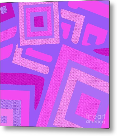 Abstract Metal Print featuring the digital art Broken Squares by Susan Stevenson