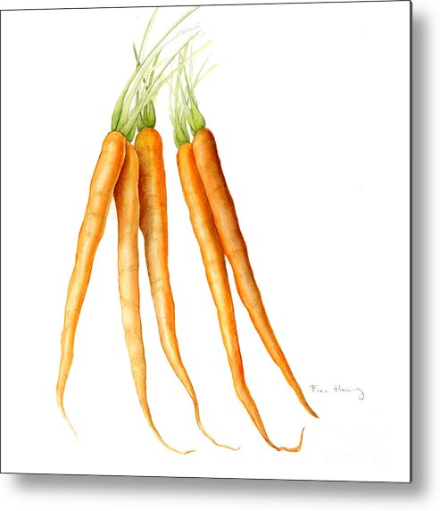 Carrots Metal Print featuring the painting Carrots by Fran Henig