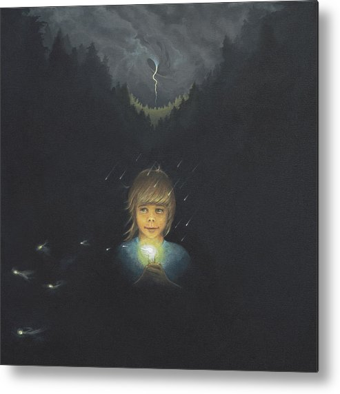 Girl Metal Print featuring the print Carry The Light 2 by Boris Koodrin