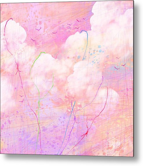 Abstract Metal Print featuring the digital art Catching Clouds by Rachel Christine Nowicki