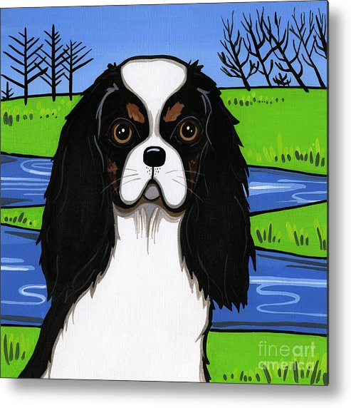 Cavs Metal Print featuring the painting Cavalier King Charles Spaniel by Leanne Wilkes