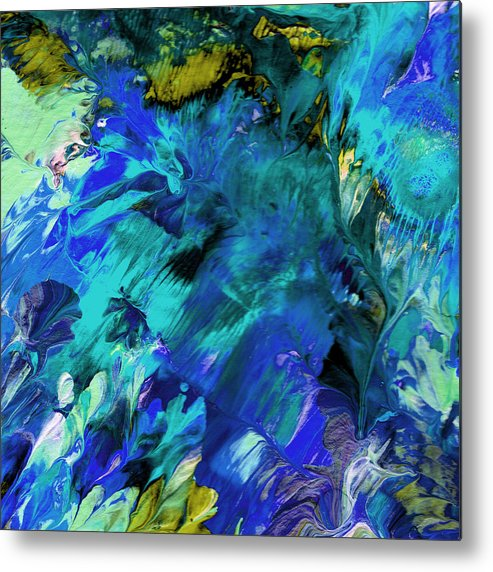 Abstract Art Print Metal Print featuring the painting Cc094 by John Kohn