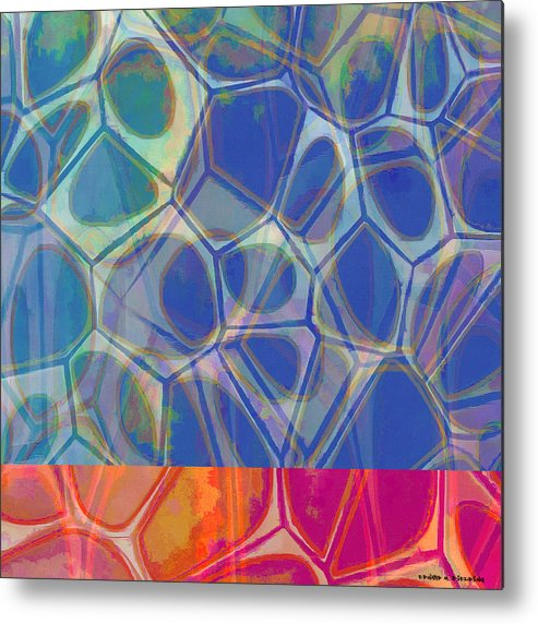 Painting Metal Print featuring the painting Cell Abstract One by Edward Fielding