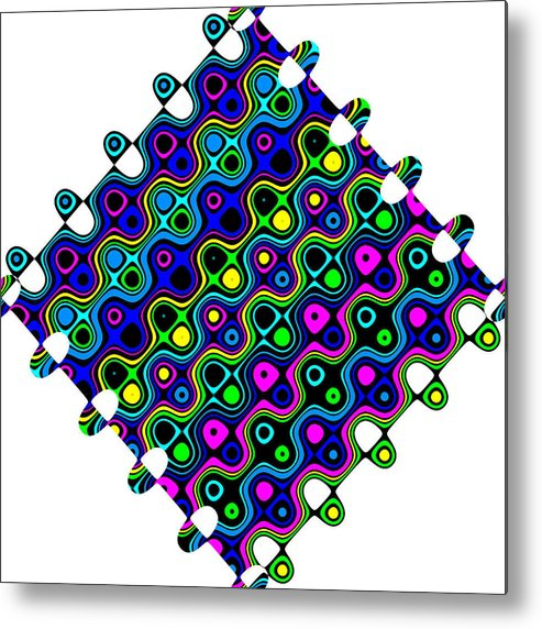 Abstract Metal Print featuring the digital art Cheerios-a by Ron Brown