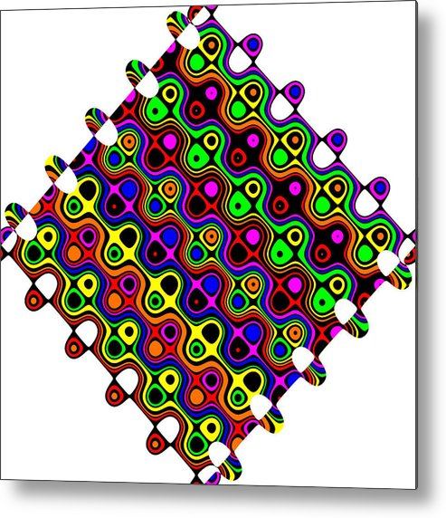 Abstract Metal Print featuring the digital art Cheerios-b by Ron Brown