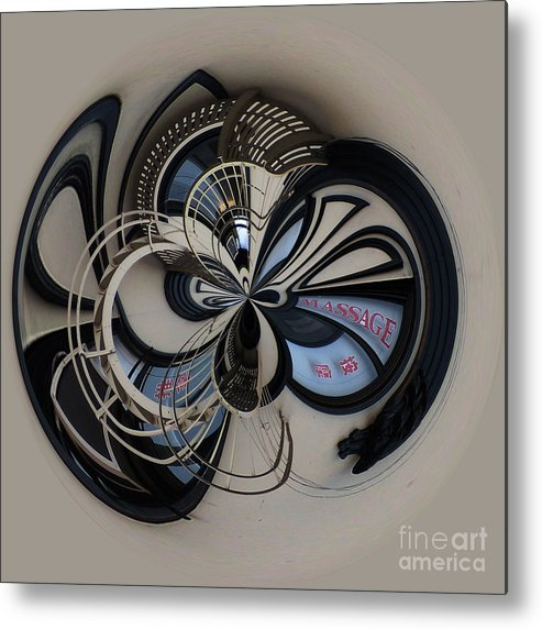 Abstract Metal Print featuring the photograph China Town by Elena Nosyreva