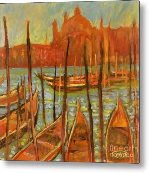 Venice Metal Print featuring the painting Choppy Water - Venice by Kip Decker