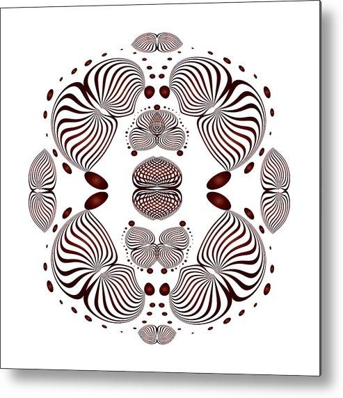 Mandala Metal Print featuring the digital art Circularity No 1638 by Alan Bennington