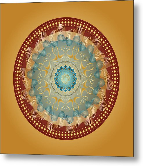 Mandala Metal Print featuring the digital art Circularity No 1640 by Alan Bennington