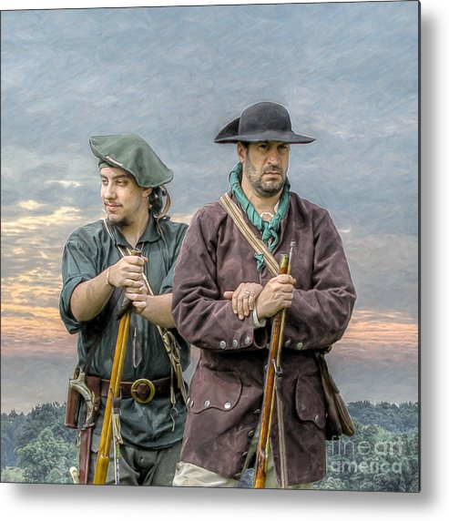 Seven Years War Metal Print featuring the digital art Citizen Soldiers by Randy Steele