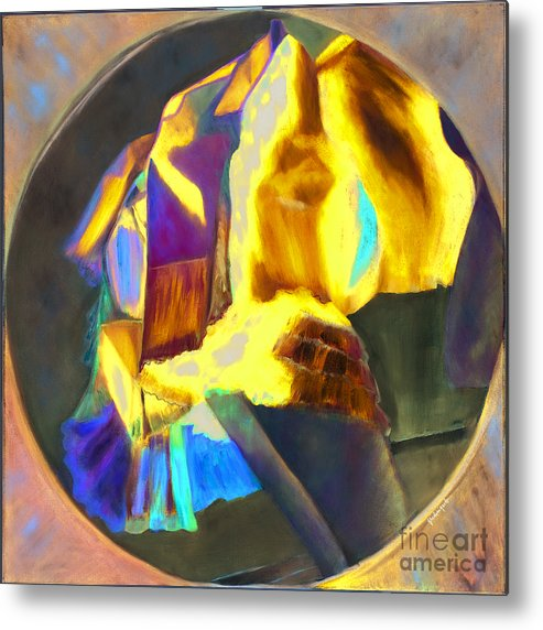 Metal Print featuring the painting Colibri by Krzis-Lorent Frederique