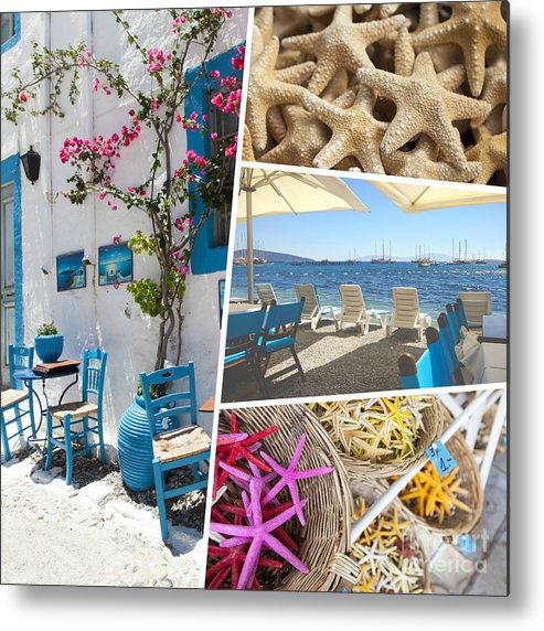 Aegean Metal Print featuring the photograph Collage Of Crete by Mariusz Prusaczyk