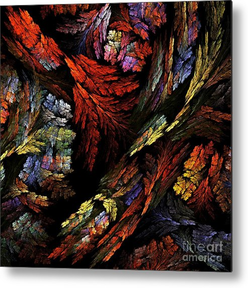 Color Metal Print featuring the painting Color Harmony by Oni H