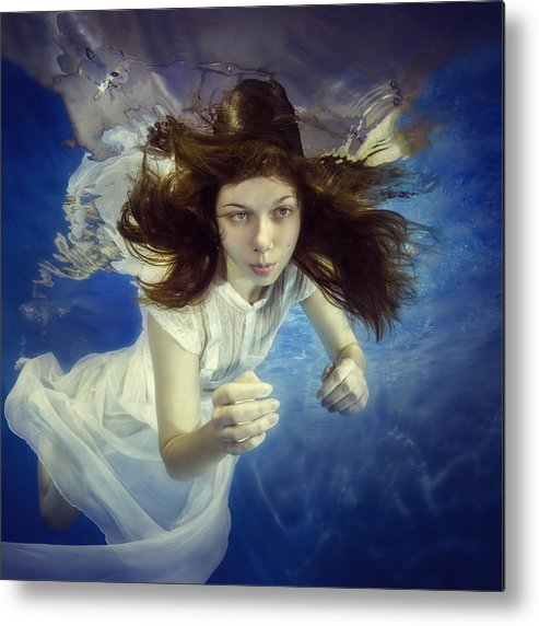 Girl Metal Print featuring the photograph Come To Me by Dmitry Laudin