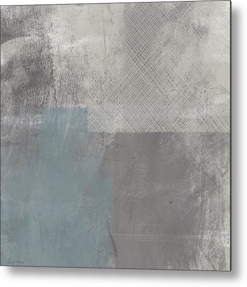 Concrete Metal Print featuring the painting Concrete 3- Contemporary Abstract Art By Linda Woods by Linda Woods