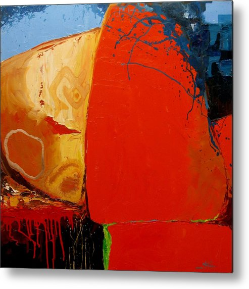 Abstract Metal Print featuring the painting Construct by David McKee