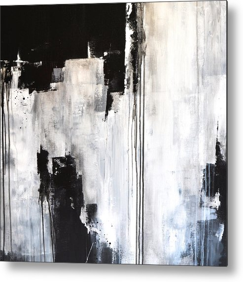 Abstract Painting Metal Print featuring the painting Contrast by Charlen Williamson