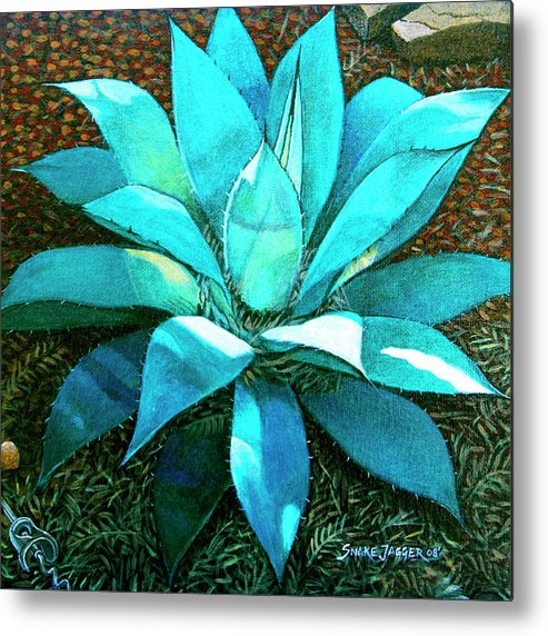 Cactus Metal Print featuring the painting Corkscrew by Snake Jagger