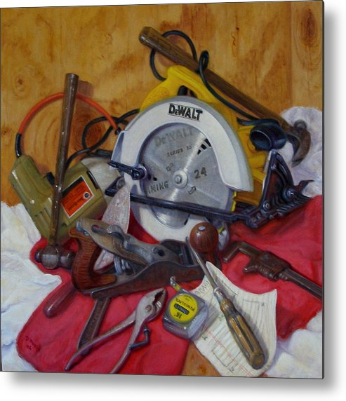 Realism Metal Print featuring the painting D. I. Y. 2  by Donelli DiMaria