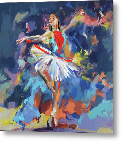 Ballerina Metal Print featuring the painting Dancers 279 1 by Mawra Tahreem