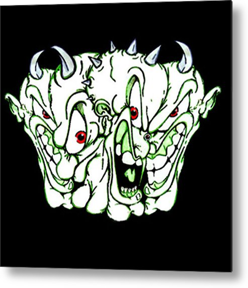 Juxtapoz Metal Print featuring the painting Demons Past by Dan Fluet