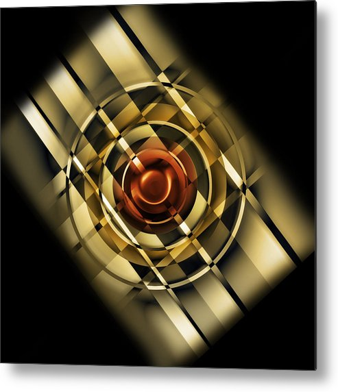 Digital Metal Print featuring the digital art Design For One by Andy Young