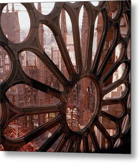 Square Metal Print featuring the photograph Detail Of La Sagrada Familia, Barcelona, Spain by Tobias Titz