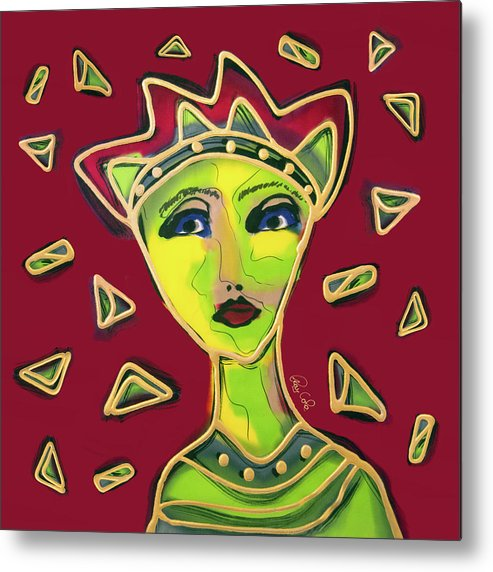 Metal Print featuring the painting Devil Woman by Ray Cole