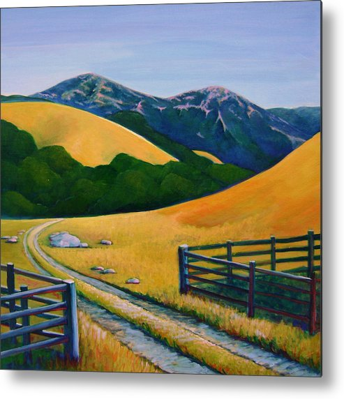 Landscape Metal Print featuring the painting Diablo View by Stephanie Maclean