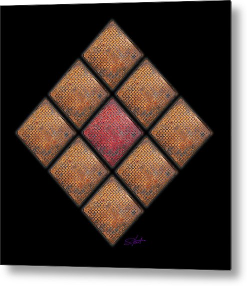 Urban Metal Print featuring the photograph Diamond Red by Charles Stuart