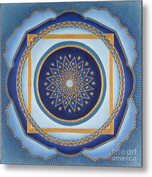 Mandala Metal Print featuring the painting Divine Feminine - Cathedral Series by Charlotte Backman