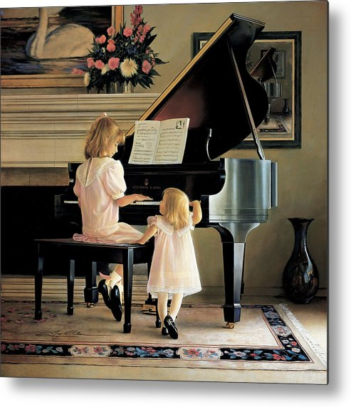 Piano Metal Print featuring the painting Dress Rehearsal by Greg Olsen