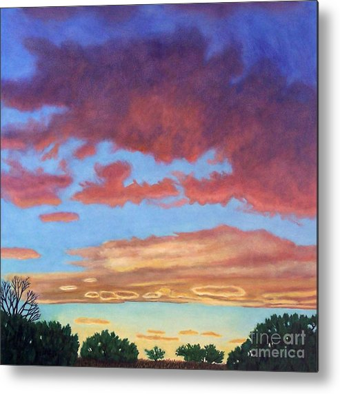 Sunset Metal Print featuring the painting El Dorado Sunset by Brian Commerford