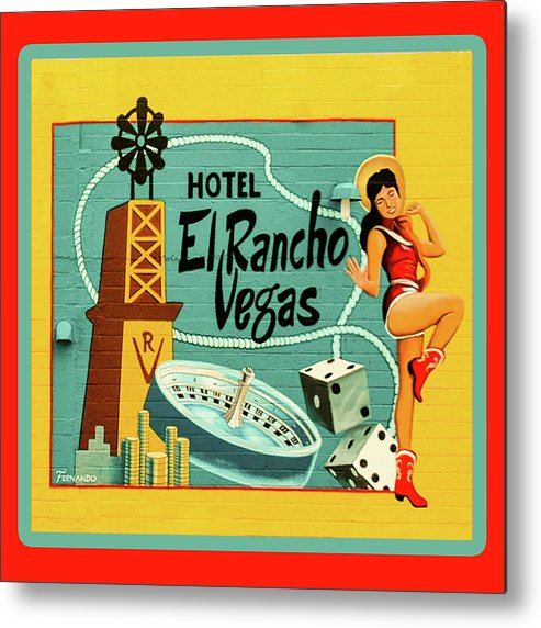 Vegas Metal Print featuring the photograph El Rancho by Jeff Burgess