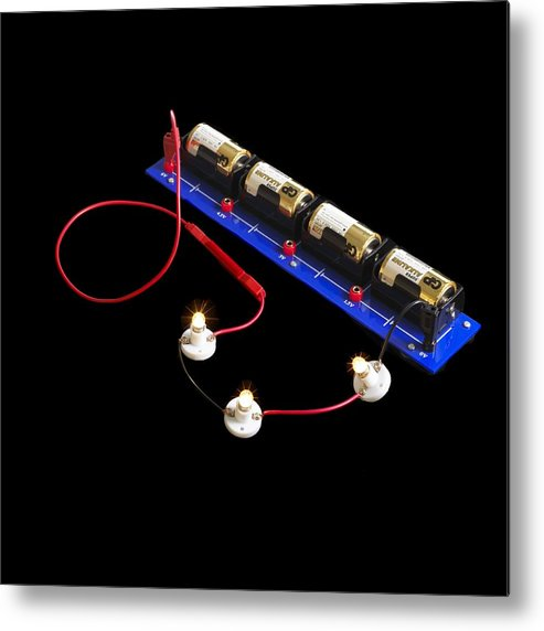 Experiment Metal Print featuring the photograph Electrical Circuit by