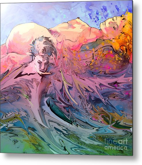Miki Metal Print featuring the painting Eroscape 10 by Miki De Goodaboom