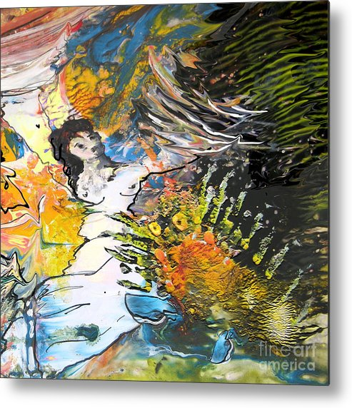 Miki Metal Print featuring the painting Erotype 07 2 by Miki De Goodaboom