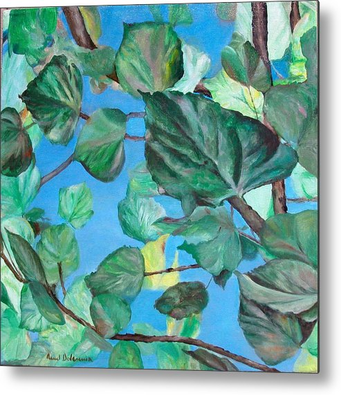 Floral Painting Metal Print featuring the painting Ete by Muriel Dolemieux