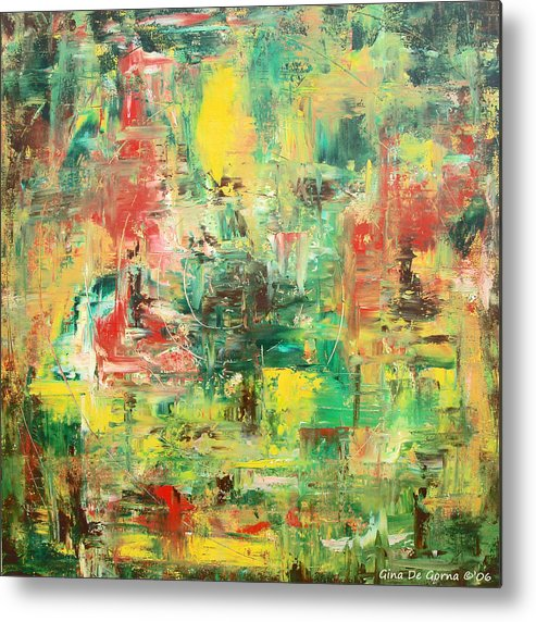 Eternity Metal Print featuring the painting Eternity by Gina De Gorna