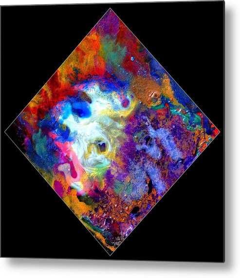 Abstract Metal Print featuring the painting Evolution Series 1006 by Dina Sierra