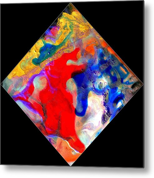 Abstract Metal Print featuring the painting Evolution Series 1007 by Dina Sierra