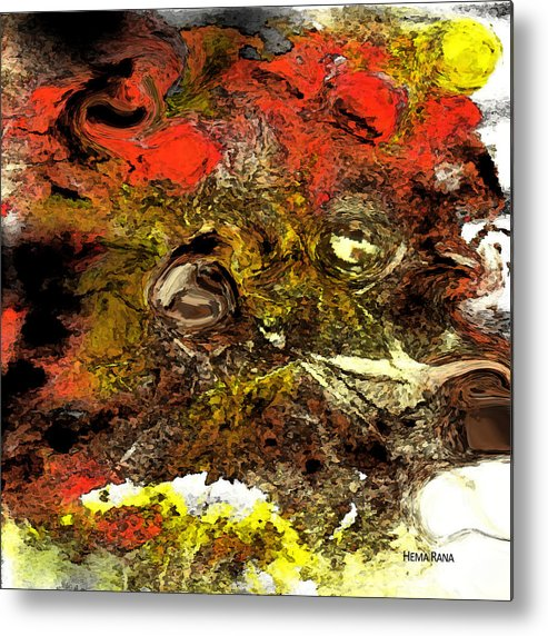 Digital Art Metal Print featuring the digital art Exotic Creature by Hema Rana