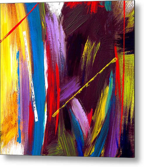 Abstract Metal Print featuring the painting Express Yourself by Ruth Palmer