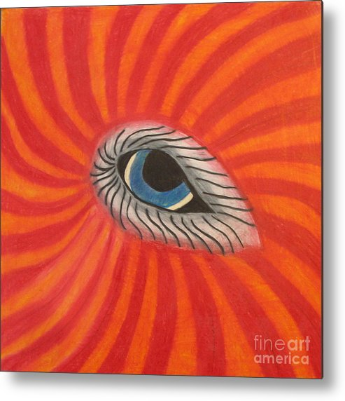 Eye Metal Print featuring the drawing Eye Of The Beholder by Juli House