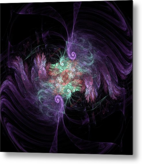 Fractal Metal Print featuring the digital art f39 by Thomas Pendock