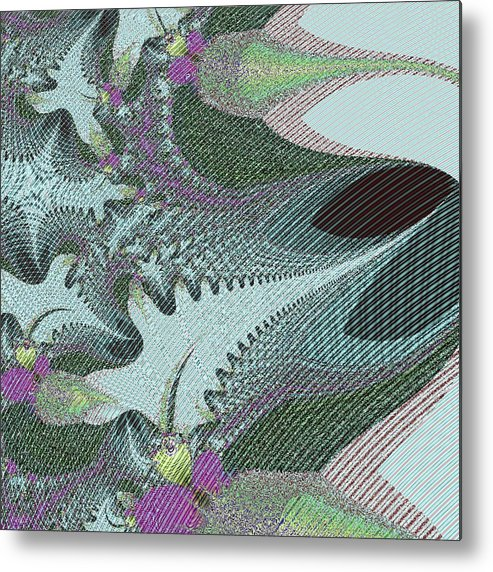 Digital Metal Print featuring the digital art Fabric Sample by Thomas Smith