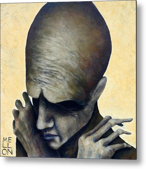 Figure Metal Print featuring the painting Figure Six by Mark M Mellon