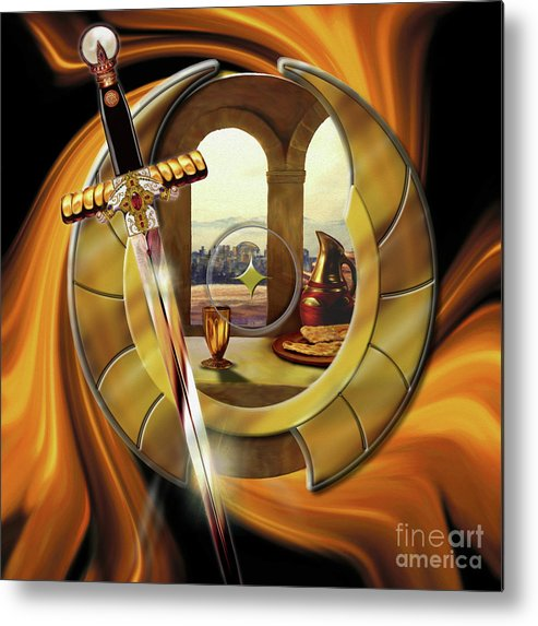 Fire Metal Print featuring the painting Fire Of Glory by Todd L Thomas
