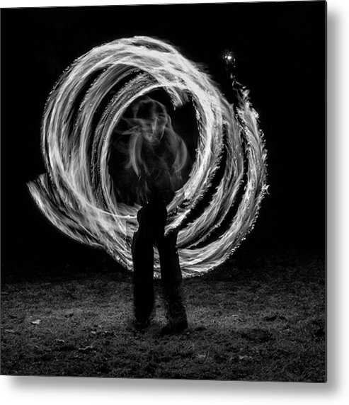 People Metal Print featuring the photograph Fire Walk With Me. Someday I Will Run by Brian Carson